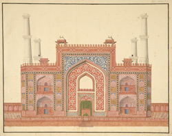 Entrance gateway to Akbar's mausoleum, Sikandra 1782